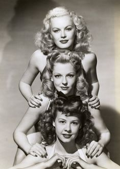 June Haver, Vivian Blaine, and Vera-Ellen