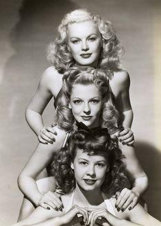 1940's Hair-June Haver, Vivian Blaine, and Vera-Ellen