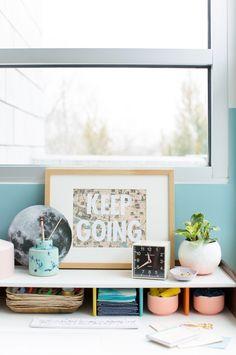 DIY // 'Keep Going' Inspirational Wall Art #DIY #crafts