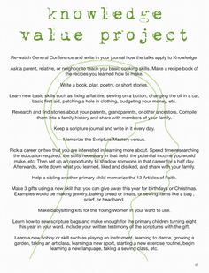 Stand & Shine Magazine: Knowledge Value Project Ideas