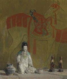 Still Life, The Tang Horse by Hovsep Pushman on Curiator, the world's biggest collaborative art collection. Spiritual Paintings, Oriental, Hippie Painting, Digital Museum, Still Life Photos, Small Sculptures, Sketch Painting, Painting Tips, Collaborative Art