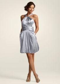 Silver Dresses @ David's Bridal.  Love the pockets! $129