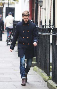 Cómo combinar un abrigo largo negro en 2016 (77 formas) | Moda para Hombres