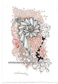 Zentangle Inspired Art, £30.34  Found on Etsy