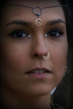 NOSE RING SEPTUM 14k yellow solid gold 4 rings by studiolil