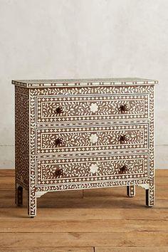 Bone Inlay Three Drawer Dresser