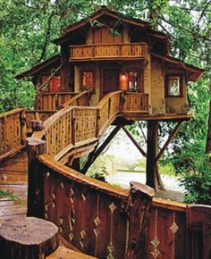 Treehouse cottage--childhood fantasy come to life