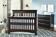Navy & Grey Chevron crib skirt, aqua nursery, bedding by Pine Creek, furniture by Baby's Dream