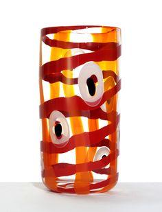 "Ann Wåhlström (Swedish), ""Madras II"" Blown Glass Vase, 2006."