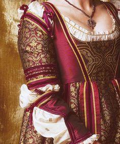 Claret Renaissance gown