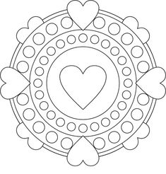 Valentine Heart Mandala Coloring Page from Events Coloring Pages category. Find out more cool coloring pages for your children Valentine Coloring Pages, Heart Coloring Pages, Cool Coloring Pages, Mandala Coloring Pages, Printable Coloring Pages, Coloring Books, Art Quilling, Quilling Patterns, Free Adult Coloring