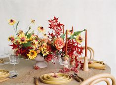 Create a stunning display of fall colors for your Thanksgiving tablescape this year. Recreate this floral centerpiece with high-quality silk flowers from Afloral, along with candles and supplies to finish off the look. Shop this look for your Thanksgiving tablescape at Afloral.com. Fake Hydrangeas, Hydrangea Flower, Fake Flowers, Dried Flowers, Dried Flower Arrangements, Vase Arrangements, Floral Centerpieces, Fall Wedding Flowers, Flower Bouquet Wedding