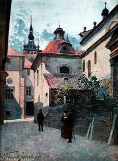 Jirska ulice de Vaclav Jansa (1859-1913, Czech Republic)