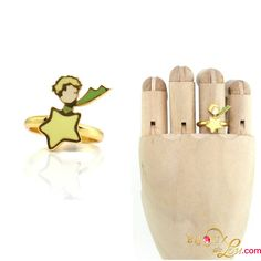 Little Prince Ring: This ring is perfect for fans of the Little Prince. The ring is adjustable. Gold plated and hand painted in colorful enamel. The ring is adjustable. Matching necklace, bracelet and earrings sold separately. L