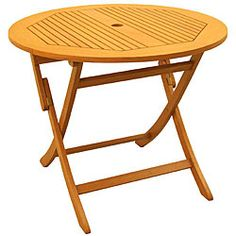 Royal Tahiti Yellow Balau Wood 36-inch Folding Table