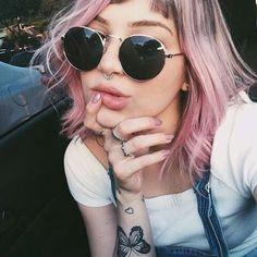 Imagem de girl, hair, and pink