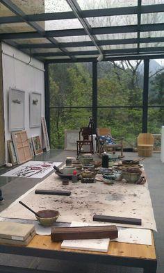 Sanbao Art Studio Room, Art Studio Design, Art Studio At Home, Painting Studio, Home Art, Decoration Chic, Art Studio Organization, Interior And Exterior, Interior Design