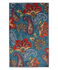 Look at this #zulilyfind! Blue & Red Large Whinston Rug #zulilyfinds