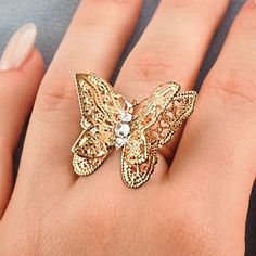 The Paragon 3-D Filigree Butterfly Ring