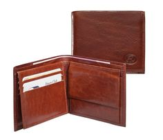 H.J de Rooy Chestnut Brown Leather Credit Card Case