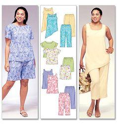 M4097   Women's Top, Tunics, Shorts & Capri Pants   Plus Size   McCall's Patterns