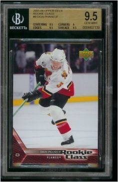 2005/06 Upper Deck Rookie Class Dion Phaneuf Hockey Rookie Card #9 - Graded BGS 9.5 Gem Mint . $29.95. This affordable card will make a fine addition to any collection. Please contact us if you have any questions or need to see a scan of this great card.