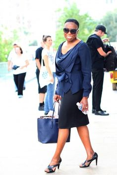 British Royal Blue | Mikki Taylor, Former Essence Fashion and Beauty Editor | Essence Magazine Street Style (NYFW SS13)