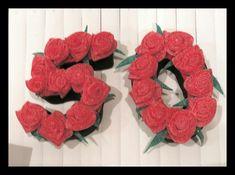 Sorpresa dulce. Cumpleaños. Candy bar. Rincón dulce .Corner sweet. Fiesta temática. los cincuenta. Flores dulces. Rosas dulced