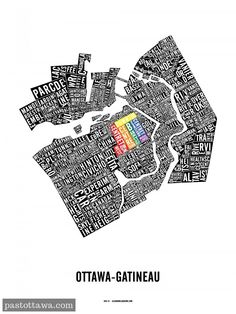 Pride version of the Ottawa Neighbourhood Map.