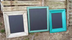 Old Picture Frames Turned Chalk Boards