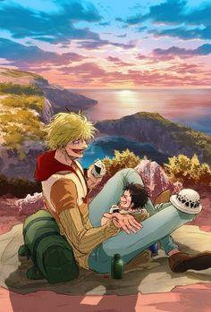 Law One Piece, Zoro One Piece, One Piece Ship, Anime One Piece, One Piece Comic, One Piece Fanart, Me Anime, Manga Anime, Anime Art