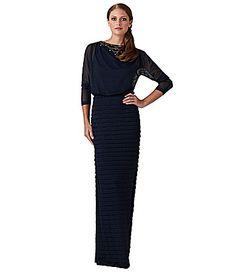 Adrianna Papell ColdShoulder ShutterSkirt Gown #Dillards