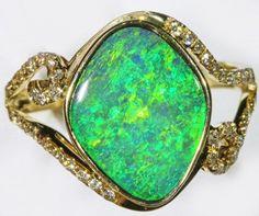 Gem Opal Doublet Ring in 14K Gold SB 266  DOUBLET OPAL  GEMSTONE FROM  LIGHTNING RIDGE, AUSTRALIAN  OPAL