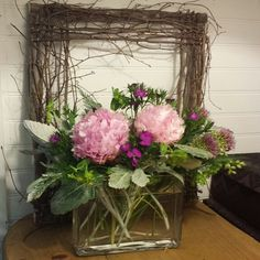 Peonies centerpiece. #atlanta_flowerbar #atlantaflorist #atlantawedding #weddingflowers #atlantaweddingflorist #shoplocal #flowersonthebeltline #inmanparkflorist #o4w #inmanpark #oldfourthward Peonies Centerpiece, Centerpieces, Cake Flowers, Atlanta Wedding, Ants, Wedding Flowers, Floral Wreath, Reception, Wreaths
