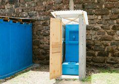 Blue diversion toilet
