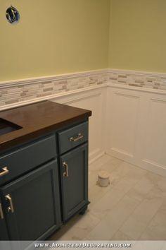 Tile Wainscoting Bathroom recessed panel wainscoting with tile accent – part 1 | wainscoting