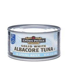 Solid White Albacore Tuna www.theteelieblog.com Solid White Albacore Tuna is considered the highest quality tuna available in a can. The meat is light in color and firm in texture without a lot of sediment. One serving of Albacore Tuna provides about one-third of the daily needed protein with very little fat. #thrivemarket