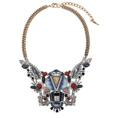 Serengeti Statement Bib Necklace - Shop now in my boutique https://www.chloeandisabel.com/boutique/lizstorey #chloeandisabel #jewelry #fashion