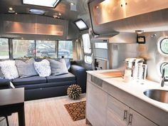 Chic Trailer Living Room >> http://www.hgtvremodels.com/interiors/small-homes-on-the-move/index.html?soc=pinterest
