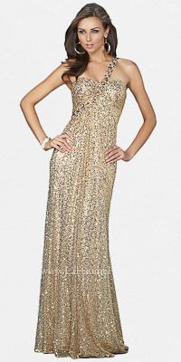 Backless Sequin Prom Dresses by La Femme