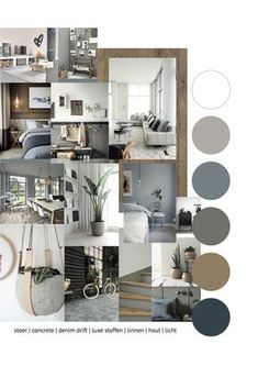 Portfolio 1 – THUIS interieur & woondeco - Home Decoraiton - Hints for Women Mood Board Interior, Interior Design Living Room, Moodboard Interior Design, Living Room Grey, Living Room Decor, Interior Design Presentation, Transitional Home Decor, Small Living, Modern Living