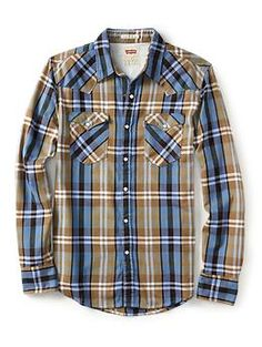 Levis Long Sleeve Barstow Western Shirt | Piperlime
