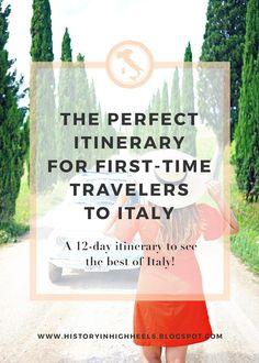 12-day itinerary to Italy