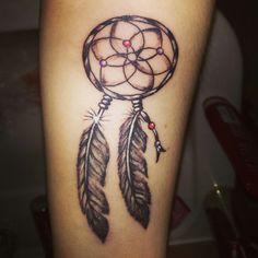 Dreamcatcher tattoo, forearm tattoo. Love it!