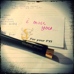 Missing you..