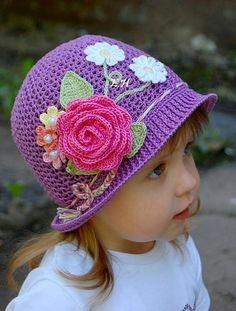 As Receitas de Crochê: Chapéu de menina em crochê PAP