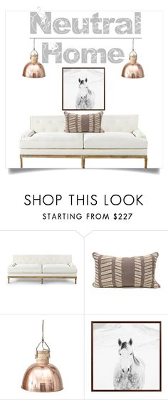 """Neutral (homedecor)"" by doragutierrez ❤ liked on Polyvore featuring interior, interiors, interior design, home, home decor, interior decorating, Bliss Studio and Pottery Barn"