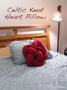 DIY Celtic Knot Heart Pillow: Tried&Twisted.blogspot.com
