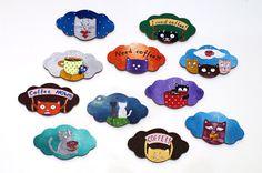 Fridge magnets - Coffee lover gift - Fridge magnet - Cat Coffee magnet set - Coffee decor - Cute Stocking stuffer - Housewarming gift