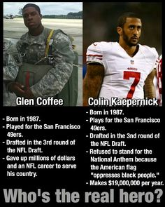 Two men who are so different. I choose Glen Coffee to be my hero. He is the man…
